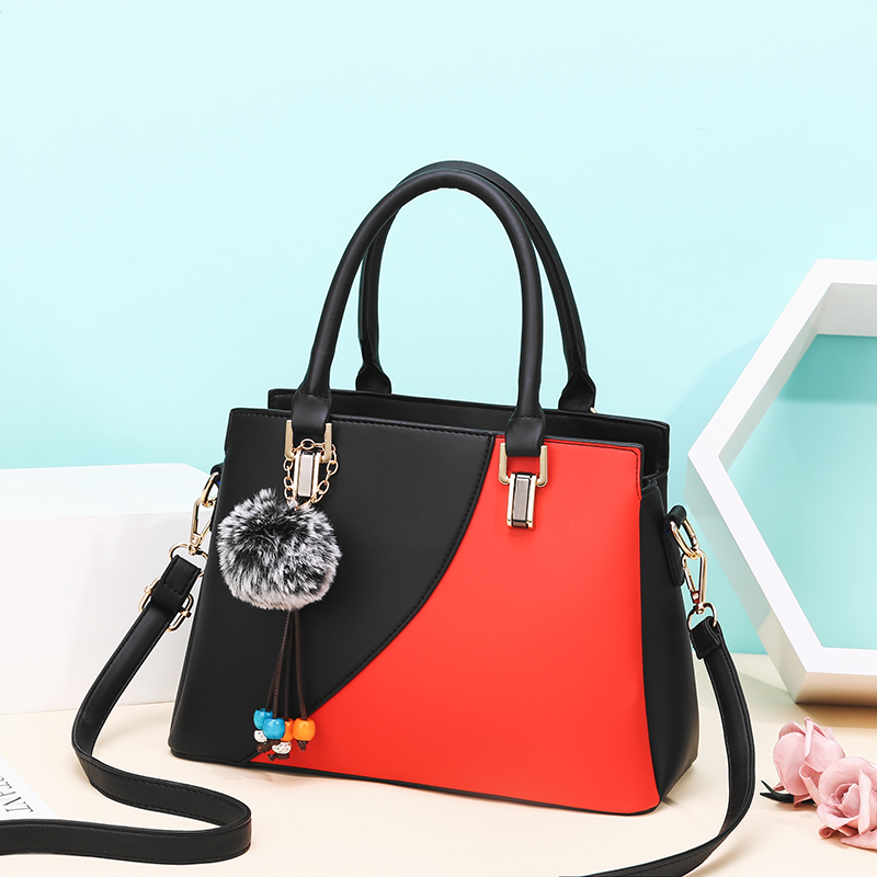 New PU Leather Large Capacity Woman Handbag Color matching Shoulder Bag Fashion Casual Luxury Designer Patchwork Crossbody Pack