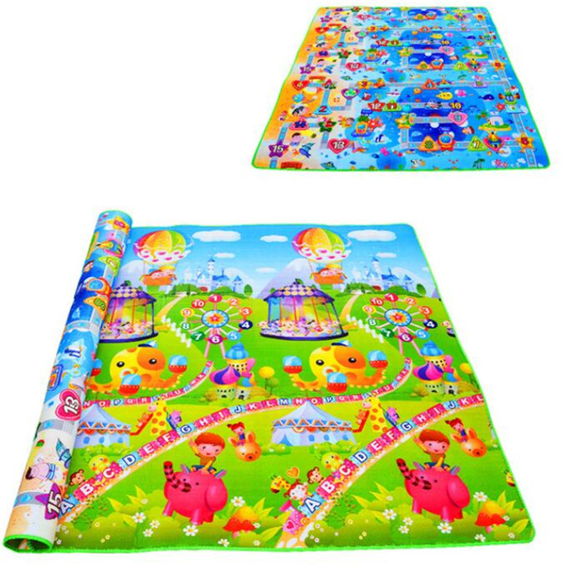 Baby Play Mat Toys Educational Developing Mat Puzzle Eva Foam Activity Carpet Gym 0.5cm Thick Children's Rug Double Sided Gift