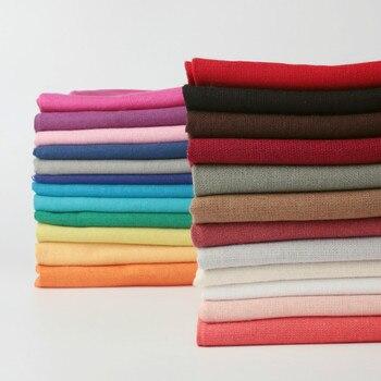 Miękkie tkaniny lniane i bawełniane materiał organiczny czysty naturalny len Cambric Eco DIY ubrania tkanina patchworkowa 150x50cm