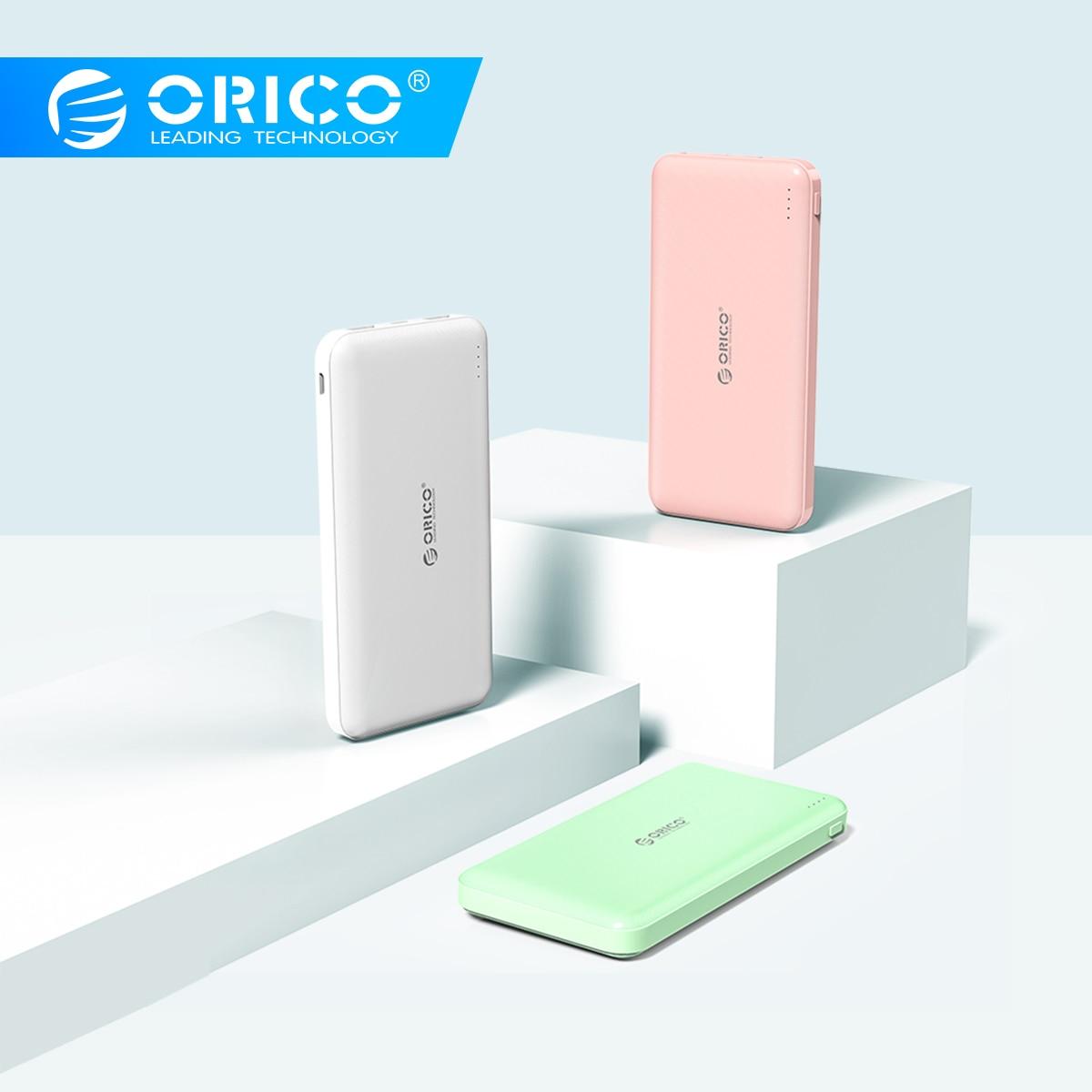 ORICO 10000 мА/ч внешний аккумулятор для путешествий, тонкий внешний аккумулятор usb type C, внешний аккумулятор для телефона, портативное зарядное у...