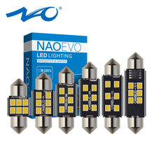 NAO 2x c5w 31mm 28mm led CANBUS led-lampe 12V 36mm Girlande Kein fehler auto Innen lichter 39mm 41mm 44mm c10w lampe 2835 chips weiß(China)