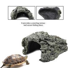 Аквариум Ландшафтная рыба скрывающаяся пещера аквариумная черепаха рептилия греющаяся прядь для украшения среды обитания орнамент рептилии террариум