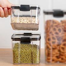 Plastic Food Containers Transparent Stackable Dry Food Storage Box Kitchen Spaghetti Noodles Sealed Containers kitchen stackable sealpot plastic containers box with buckle storage box for food cereal container fridge organizer storage