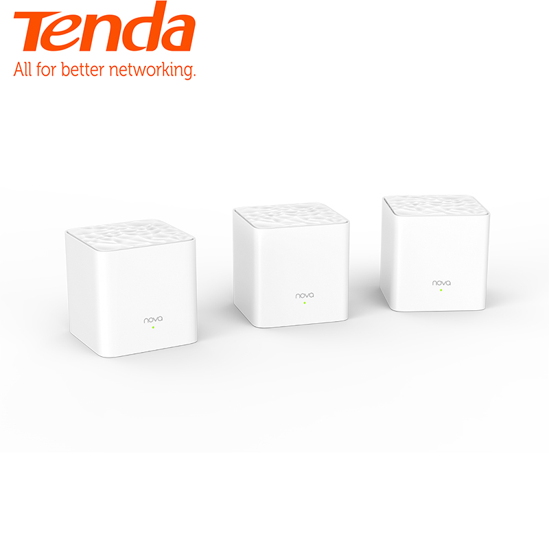 <font><b>Tenda</b></font> Nova MW3 Whole Home Mesh WiFi Gigabit System with AC1200 2.4G/5.0GHz WiFi Wireless Router Easy Set up, APP Remote Manage image