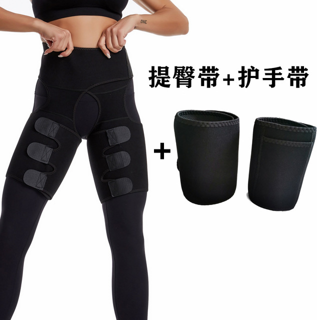 LAZAWG Leg Belt Sweat Thigh Trimmer Sweat Band Leg Slimmer Weight Loss Neoprene Gym Workout Corset Thigh Slimmer Tone Legs Strap 5