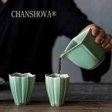 CHANSHOVA 90ml Traditional Chinese Style Crackle Random Texture Green glaze Ceramic Teacup China Porcelain Small Coffee Cup H410(China)