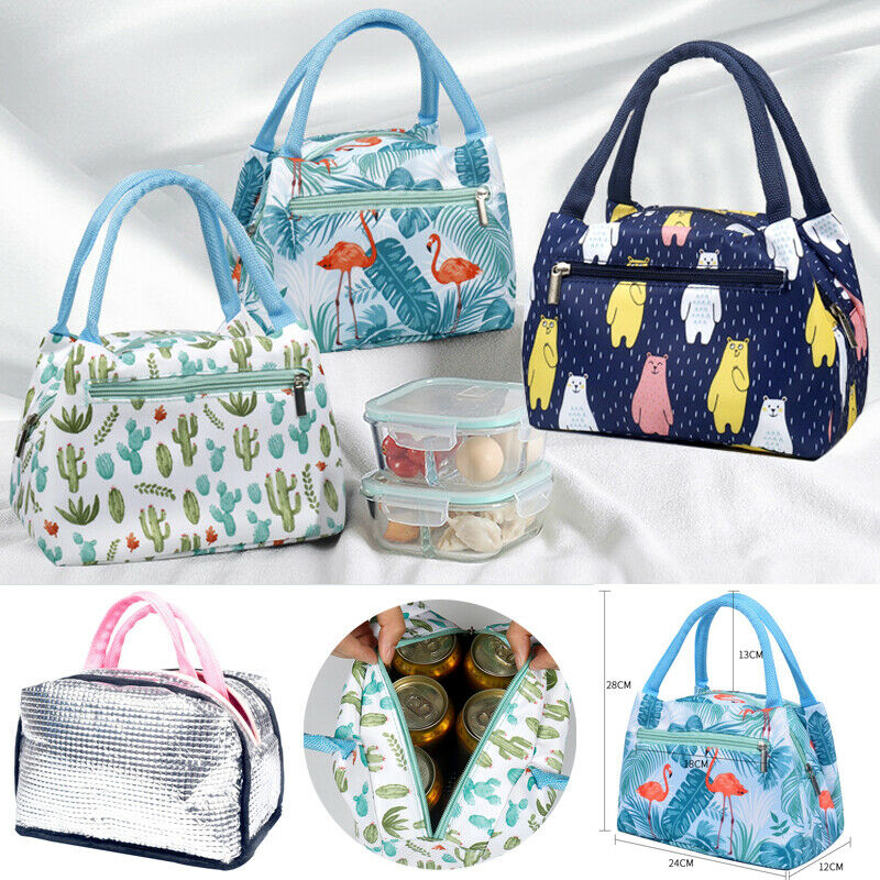 Lunch Box Portable Functional Pattern Cooler Portable Insulated Canvas Lunch Bag Thermal Food Picnic Lunch Bags For Women Kids