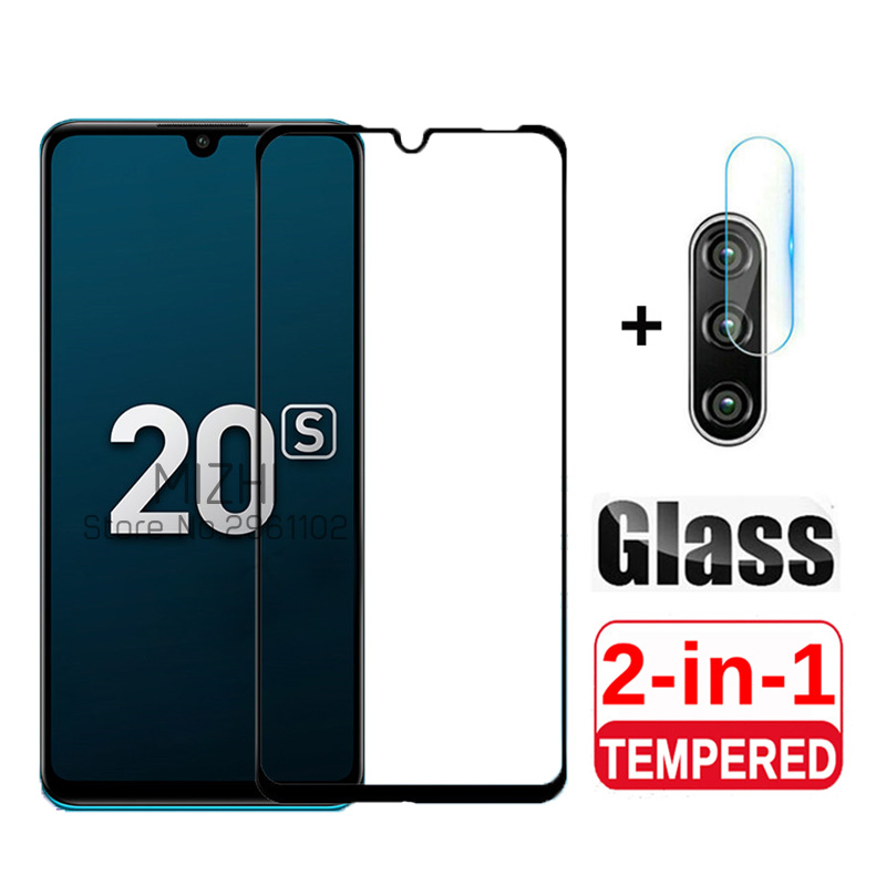 2in1 Protective Glass For Huawei Honor 20s Tempered Glas On Huwei Honer 20 S Honor20s MAR-LX1H Camera Lens Screen Protector Film
