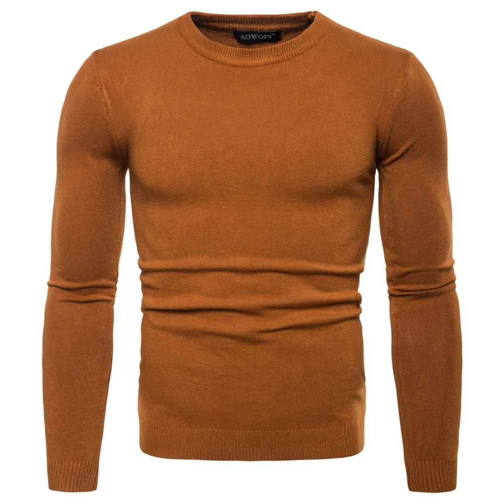 2019 New Fashion Sweaters MOOWNUC Male Sweaters Solid Autumn Casual O-Neck Pullover Slim Windproof Bottoming Shirts Homme Men
