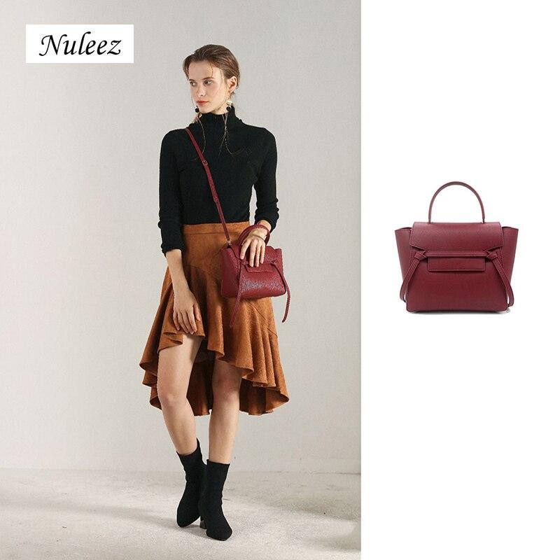 Nuleez Catfish Bag Nano Leather WOMEN'S Bag Su Ming Jade Celebrity Inspired Bag Net Red Large-Volume Wings Style Bag Hand Should