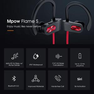 Image 5 - Mpow Flame S Bluetooth 5.0 Earphone Aptx HD Wireless Headphones With 12H Playtime IPX7 Waterproof Sport Earbuds For iOS Android