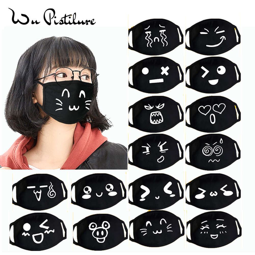 1pcs Cartoon Funny Expression Masks Anti Dust Cotton Mouth Mask Unisex Banquet Party Mouth Muffle Respirator Keep Warm Masks