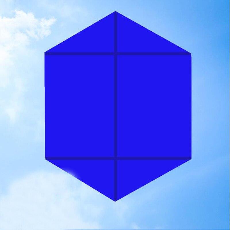 Livraison gratuite 10 pièces/lot hexagone cerf-volant en gros cerf-volant bobine pour adultes cerf-volant en nylon ligne weifang cerf-volant usine jouets de plein air