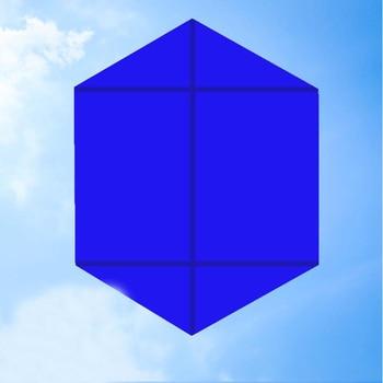 Free shipping 10pcs/lot Hexagon kite wholesale kite reel for adults kite nylon kite line weifang kite factory outdoor toys фото