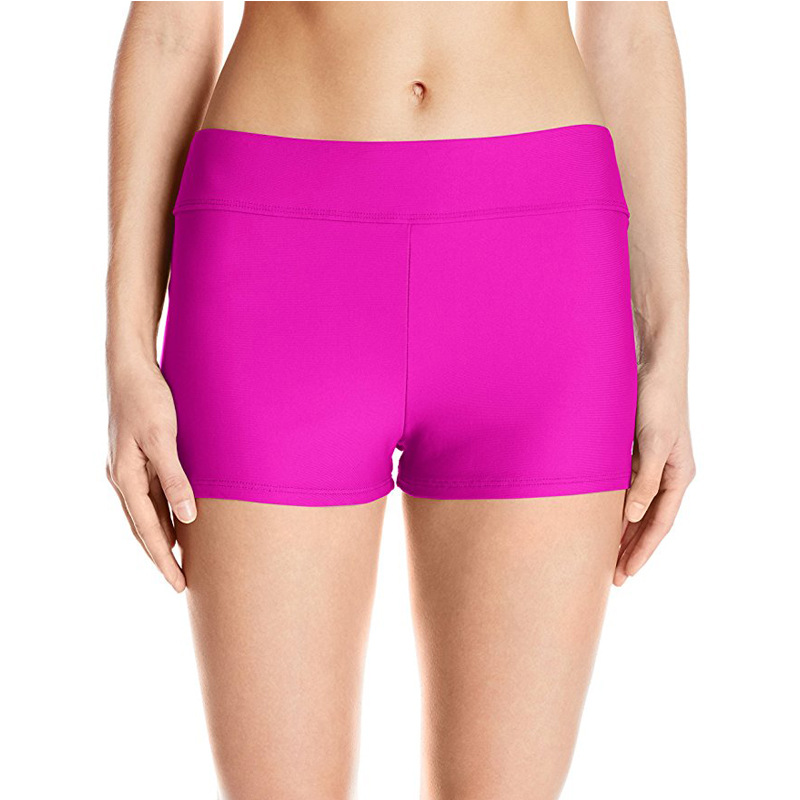 Boxer Women's Base Swimming Trunks Sports Yoga Shorts Fitness Safe Beach Shorts Tight-Fit Quick-Dry