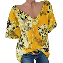 VICABO Women Blouse shirt Floral Printed