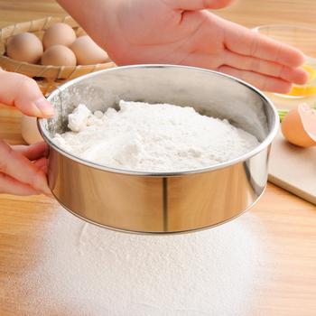 Kuchnia z drobnymi oczkami sito do mąki profesjonalne okrągłe sito do przesiewania mąki ze stali nierdzewnej sitko przesiewacze najlepsze na pieczenie w kuchni herbata tanie i dobre opinie CN (pochodzenie) Ekologiczne Na stanie STAINLESS STEEL Flour sieve CE UE Easy to clean safe Sifter for Baking Mesh Flour Sifter
