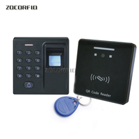 QRcode+RFID Card+Fingerprint Access Control Standalone Single Door Controller Cheapest Standalone Keypad Door Entry controller