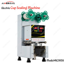 RC995S electric cup sealing machine Bubble tea machine Commercial Cup sealer seal 7/7.5/8.8/9/9.5cm PP/PC/PE cup стоимость