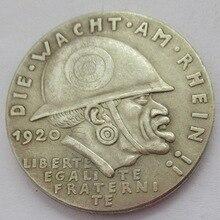 Редкий оттиск большого размера Карла Гетца, 1920 немецкий черный стыд медаль / обнаженные девушки,эротика копия монеты памятные монеты подарок