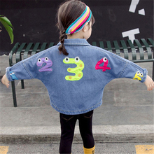 Autumn Denim Jacket for Baby Boy Toddler Girl Embroidery Number 1-5 Cardigan Bomber Jeans Jacket Children Clothes Outerwear Coat