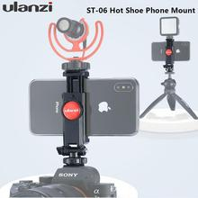 Vertical Shooting Phone Mount Holder Adjustable with Cold Shoe Magic Arm for LED Light Microphone