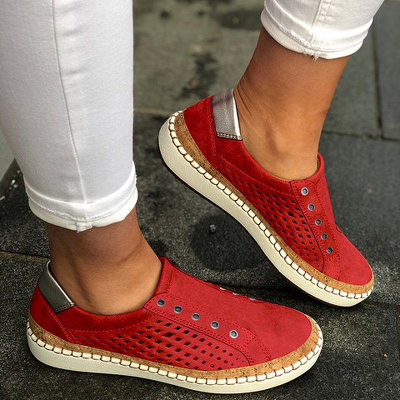 PUIMENTIUA Vulcanized-Shoes Women Sneakers Fashion Flats-Torridity Hollow-Out title=