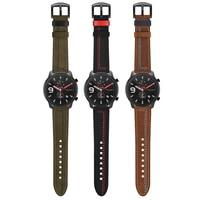 Cinturino da polso in pelle per Huami Amazfit GTR 47mm 42mm/GTS/Pace Stratos 3 2/Bip Smartwatch cinturino cinturino cinturini cinturino fibbia nera