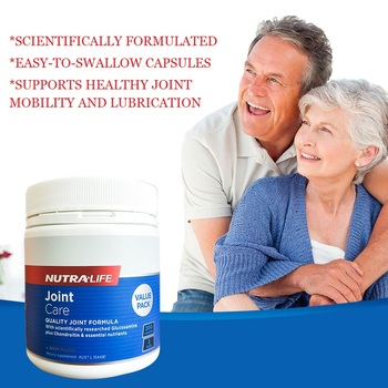 NutraLife Joint Care Quality Formula 200Caps Glucosamine Sulfate Healthy Joints Mobility Cushioning Lubrication Cartilage Repair image