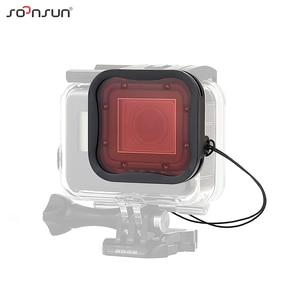Image 4 - SOONSUN 2 Pack Filters Kit Red Snorkel Lens Dive Filter for GoPro HERO 7 6 5 Black Super Suit Housing Case Go Pro 7 Accessories