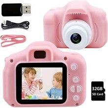 Mini Kids Digital Camera HD 1080P IPS 32GB Children Camera Educational Toys Juguetes Camara foto infantil Dropshipping Kid Gifts