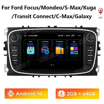 2G 64G Car Radio Android 10 for FORD FOCUS Mondeo S-MAX C-MAX Galaxy Kuga 2DIN Auto Audio Car Stereo GPS Navigation Multimedia image