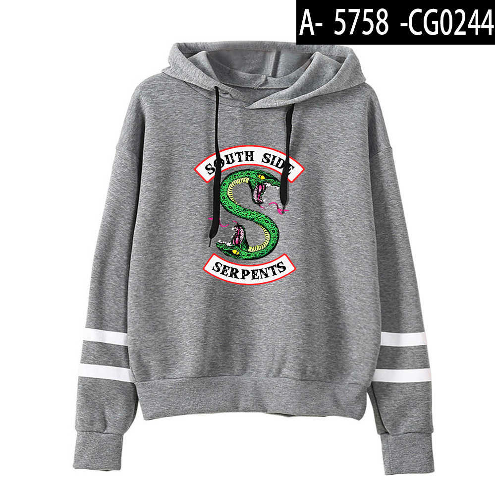 Riverdale Southside Serpents Hoodies Sweatshirts MenS Women South Side Serpents Hoodie Long Sleeve Striped Pullover Top Oversize 15