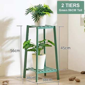 4 Layers Simplicity Wood Stand For Plants Landing Type Light Extravagant Multi-storey Shelf Indoor Flowerpot Frame Flower Stand 10