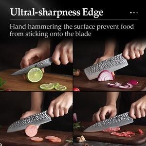 Image 5 - XINZUO Set de couteaux de cuisine en acier inoxydable, VG10, damas Chef tranchants Santoku Nakiri couteaux à trancher, manche en Pakkawood