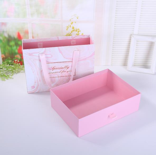 2pcs Pink Marble Gift Box Wedding Gift Box Beautiful Box For Gifts 2 Size 27 20 8 8cm 24 17 7cm Hediye Cantalar Ve Sarma Malzemeleri Aliexpress