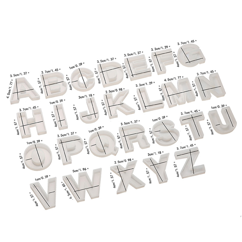 Letter A To S Mold Alphabet & Number Silicone Molds Initial Mold Large Clear Resin Mold Epoxy Resin Craft Supplies