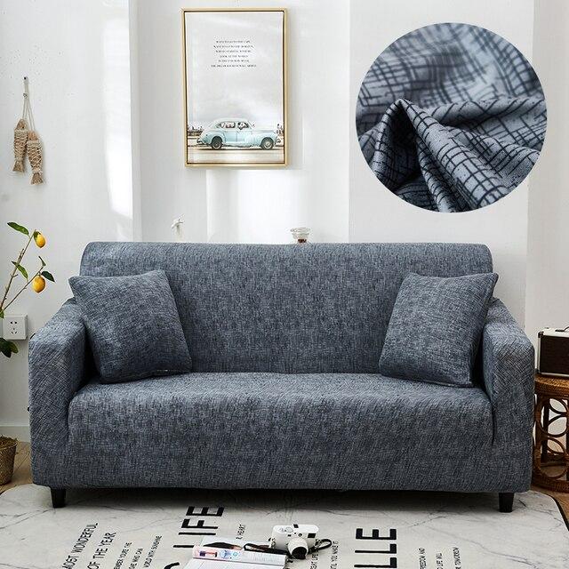 מוצק צבע ספה מכסה לסלון למתוח כיסויים אלסטי חומר ספה כיסוי פינת ספה כיסוי כפול מושב שלוש מושב