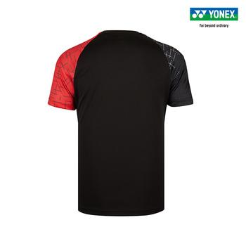 Oryginalny Yonex ubrania do badmintona dla mężczyzn kobiety odzież koszulka z krótkim rękawem koszula koszulki sportowe 110529bcr tanie i dobre opinie
