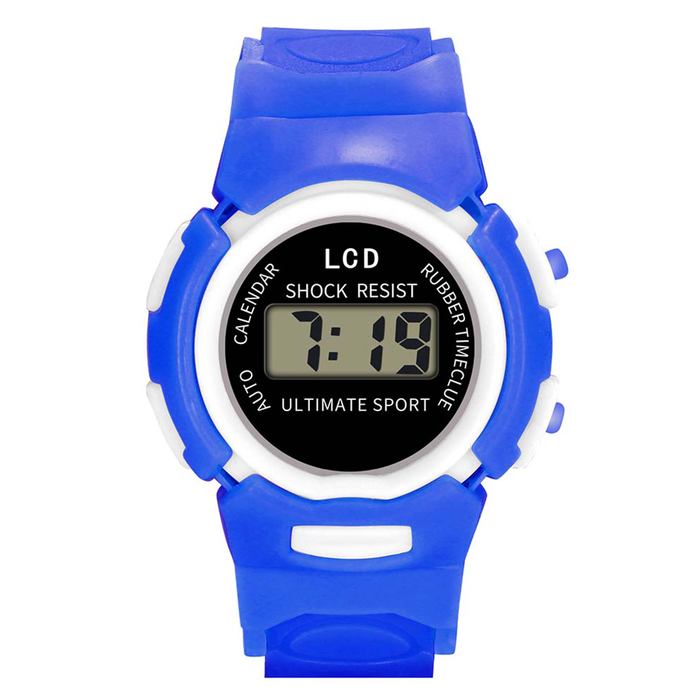 Fashion And Durable Kids Casual Electronic Watch Children Comfortable Silicone Sports Cute Watches FO Sale