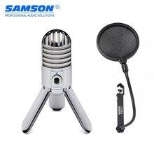 Professionele Samson Meteor Mic Usb Cardioid Studio Microfoon Met 3 Fold Back Benen Gaming Microfoon Streaming Recording Mic
