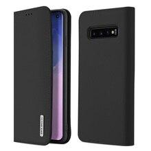 DUX DUCIS Echtem Leder Fall für Samsung Galaxy S10 Plus Flip Brieftasche Abdeckung für Samsung S10 S9 Plus S10E S10plus telefon Fällen