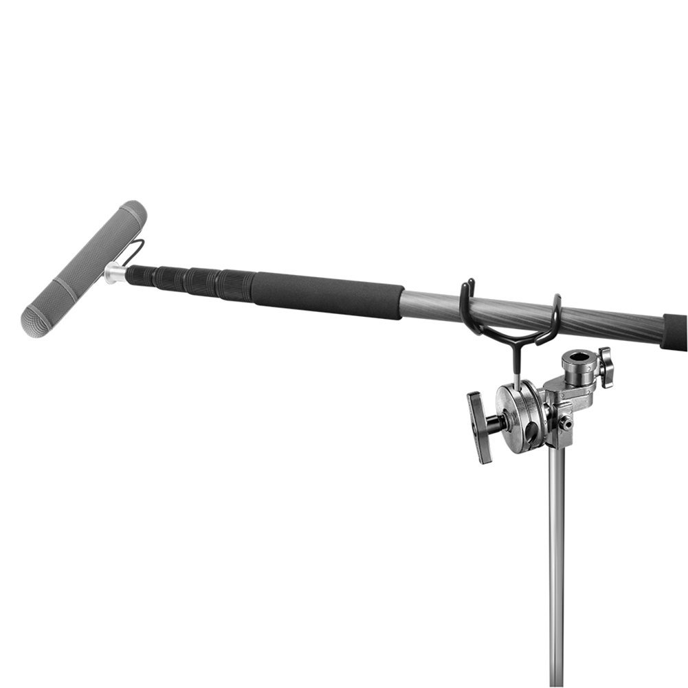 Newest Metal Microphone Boom Pole Boompole Support Holder Recording Bracket Professional Boompole Holder for C-Stand Mic Stand