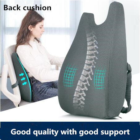 big size chair back pillow ergonomic car seat back lumbar cushion pillows back rest memory cotton office chair back support