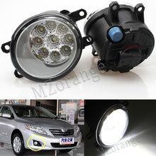 2pcs 9Led Fog Lights Fog Lamp Assembly Super Bright Fog Light For Toyota Corolla Avensis Camry Ractis Verso RAV 4 2003-2014 цена 2017
