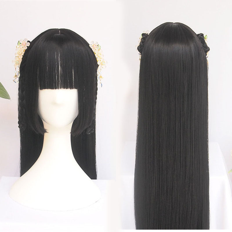 Wigs For Women Chinese Traditional Wig Vintage Wig Ponytail Hair Extension Braided Wigs Custom Wig Synthetic Wig Front Wig
