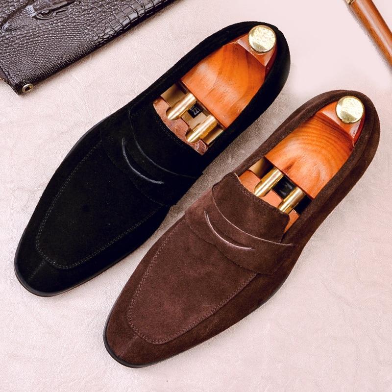 Новое поступление; мужские мокасины; повседневная обувь из натуральной кожи; удобные лоферы с острым носком; слипоны; формальная обувь из ко