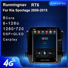 4G LTE Android 10 Dành Cho Xe Kia Sportage 2008 2015 Tesla Loại Đa Phương Tiện Stereo DVD Xe Hơi Dẫn Đường GPS đài Phát Thanh