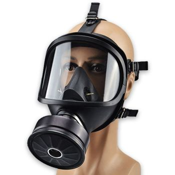 цена на Safety Chemical Full Face Respirator Dust-proof Gas Mask Anti-Dust Filter Workplace Safety Protection
