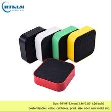 Wysokiej jakości plastik pudełko na elektroniczny projekt obudowa abs obudowa oprzyrządowania diy skrzynka przyłączowa małe pudełko na biurko 98*98*32mm